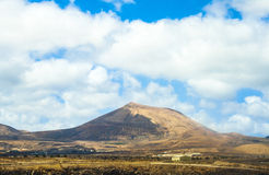View to old volcano near arrecife Royalty Free Stock Photography