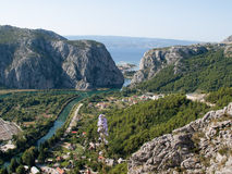 View to Omis Royalty Free Stock Photos