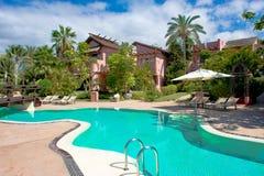 Pool of Ritz-Carlton, Abama Resort in Tenerife, luxury resort Teneriffe Stock Photography
