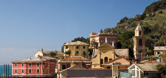 View to one of small town in Liguria Stock Photography