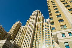 View to one of the tallest modern residential buildings in Astana, Kazakhstan. Royalty Free Stock Photo
