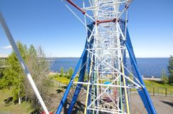View to Onego lake from Ferris Wheel in Petrozavodsk, Russia. View to Onego lake from Ferris Wheel in Petrozavodsk, Russia Stock Image