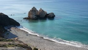 View to the open sea and sheer island coastline. Mediterranean island of Cyprus. Concept travel. stock footage
