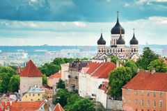 View to Orthodox church Alexander Nevsky in old Tallinn Royalty Free Stock Image