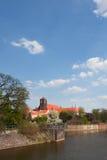 View to Ostrow Tumski, Wroclaw. Stock Image