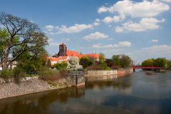 View to Ostrow Tumski, Wroclaw. View to Ostrow Tumski, Wroclaw, Poland Stock Photography
