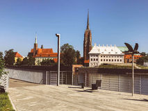 View to Ostrow Tumski, Wroclaw, Poland. Royalty Free Stock Photography