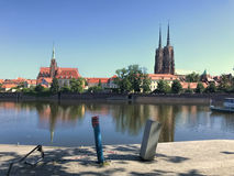 View to Ostrow Tumski, Wroclaw, Poland. Stock Photo