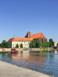 View to Ostrow Tumski, Wroclaw, Poland. Royalty Free Stock Images
