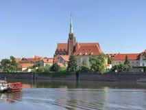 View to Ostrow Tumski, Wroclaw, Poland. View to Ostrow Tumski, Wroclaw in Poland Stock Image