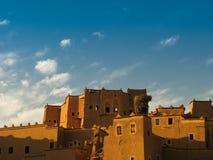 View to Ouarzazate old city aka kasbah, Crane nest Morocco Royalty Free Stock Photo