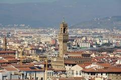 View to The Palazzo Vecchio from San Miniato al Monte Stock Photography