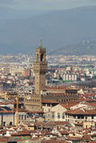 View to The Palazzo Vecchio from San Miniato al Monte Royalty Free Stock Photography