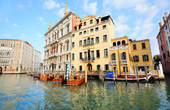 View to palazzos on Grand Canal in Venice Royalty Free Stock Photos