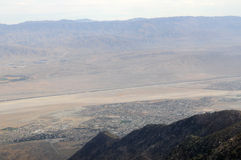 View to Palm Springs City. From the Aerial Tramway, San Jacinto State Park, Palm Springs, California, USA Stock Photos