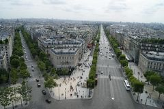 Paris view. View to Paris streets from tower royalty free stock photos