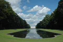 View to the park. View to the Benrath park, Dusseldorf, Germany Stock Photo