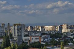 View to part of Sofia city from above Stock Photo