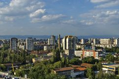 View to part of Sofia city from above Royalty Free Stock Photography
