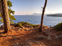 View to Phaselis - Çamyuva, Kemer, coast and beaches of Turkey Stock Photo