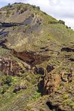 View to pico de Bandama over the Bandama crater, Gran Canaria. Canary islands, Spain Stock Photography