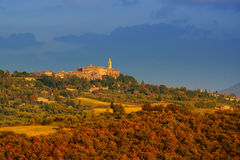 View to the Pienza Royalty Free Stock Images