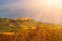 View to the Pienza Royalty Free Stock Image
