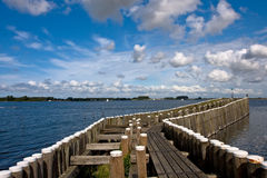 Pier in Veere, the Netherlands Royalty Free Stock Photography
