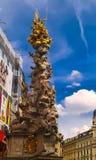 View to Plague Column, Vienna, Austria stock image