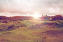 View to plain and lake at connemara in ireland Royalty Free Stock Image