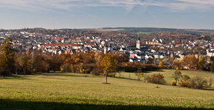 View to Plauen city durng nice autumn day Stock Image