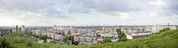 The view to Podil district in Kiev, Ukraine Stock Photography