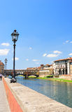 View to Ponte Vecchio and the Arno river Royalty Free Stock Images