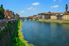 View to the Ponte Vecchio in Florence Stock Photo