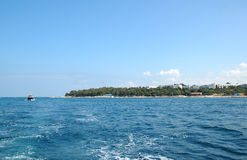 View to Porec from the boat, Croatia Stock Photo