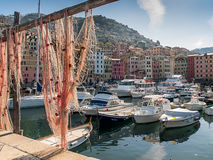 View to the port of Camogli Royalty Free Stock Image