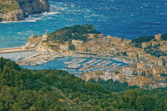 View to Port de Soller Royalty Free Stock Photos