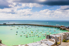 View to the port of Granville, France Royalty Free Stock Image