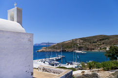 View to the port of Kimolos island, Cyclades, Greece Royalty Free Stock Image