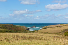 View to Porth Mear near Porthcothan North Cornwall England UK Royalty Free Stock Image