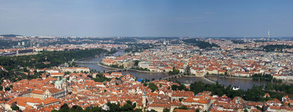 View to the Prague. City from the Petrin Hill Royalty Free Stock Photo