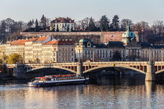 View to the Prague river Vltava Stock Photography