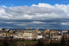 View to Princes Street from near Edinburgh Castle Stock Images