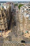 View to Princess Street in Edinburgh. In summer royalty free stock image
