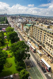 View to Princess Street from Monument of Scott Royalty Free Stock Images