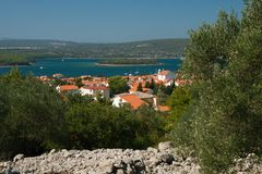 View to Punat Royalty Free Stock Photo