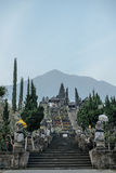 View to Pura Besakih Temple and Mount Agung Royalty Free Stock Photography