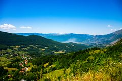 View to the Rama lake from the mountain. During sunny day Royalty Free Stock Image