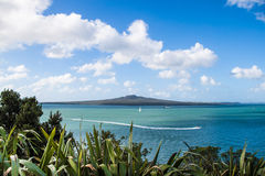 View to Rangitoto volcano from Devonport, Auckland Stock Images