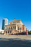 View to rebuild Opera House in Frankfurt Stock Photo